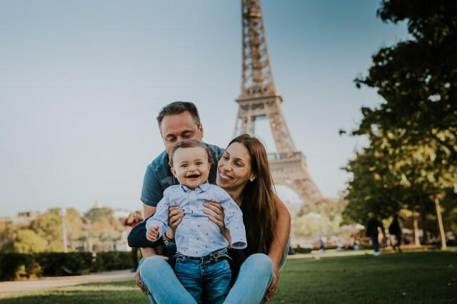 photographie famille tour eiffel paris