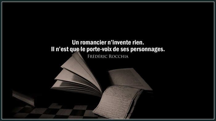 "Citation ""Romancier"""