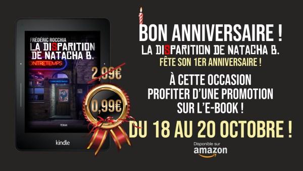 """Bon anniversaire """"La Disparition de Natacha B.""""!"""