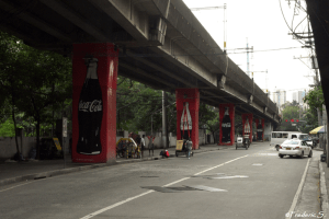 Coca-Cola is advertising anywhere