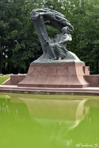 The magnificent monument to Frederic Chopin