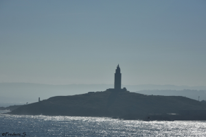 Tower of Hercules like a lighthouse