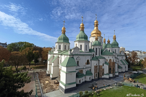 Saint Sophia Cathedral seen from the Bell Tower