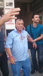 Several people were wounded in the attack on the HDP officie in Mersin.