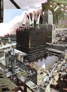 11 septembre, World Trade Center, collage, Blaize