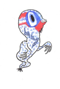 Birdy, encre et bic, Blaize