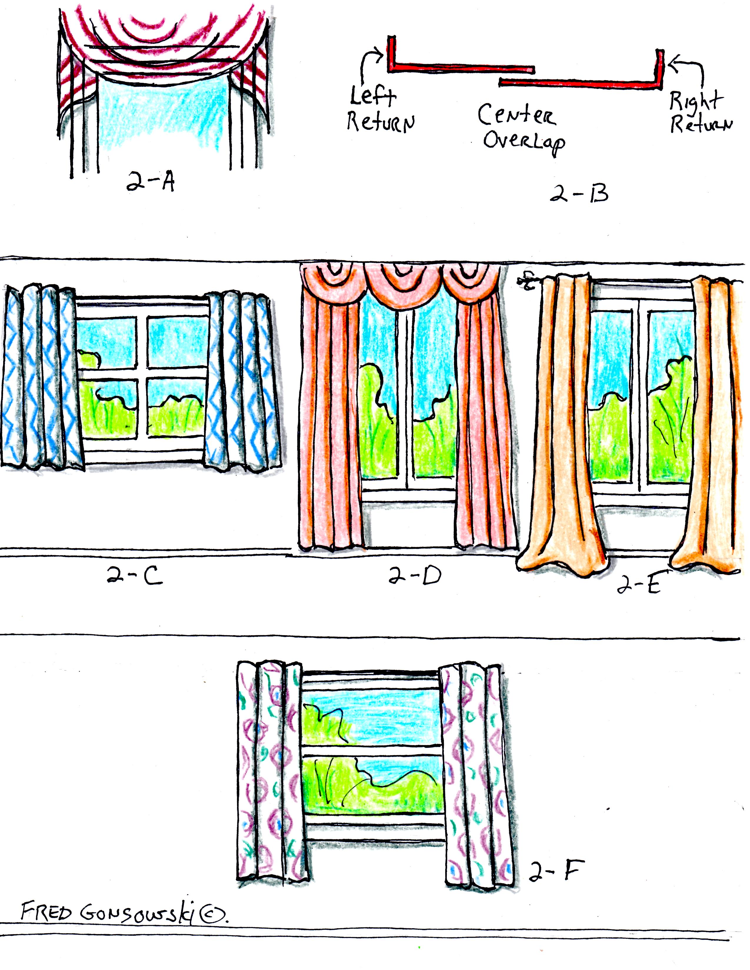 to hang curtains and drapes