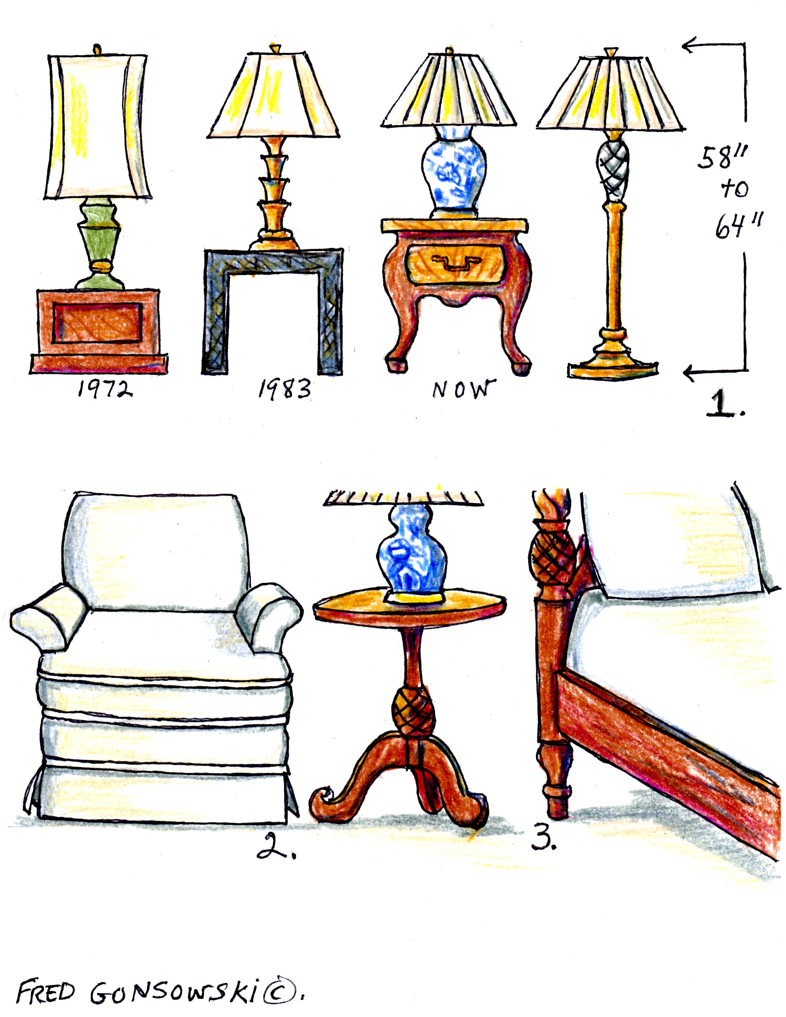 The Right Height Of A Table Lamp For Your End Table Fred