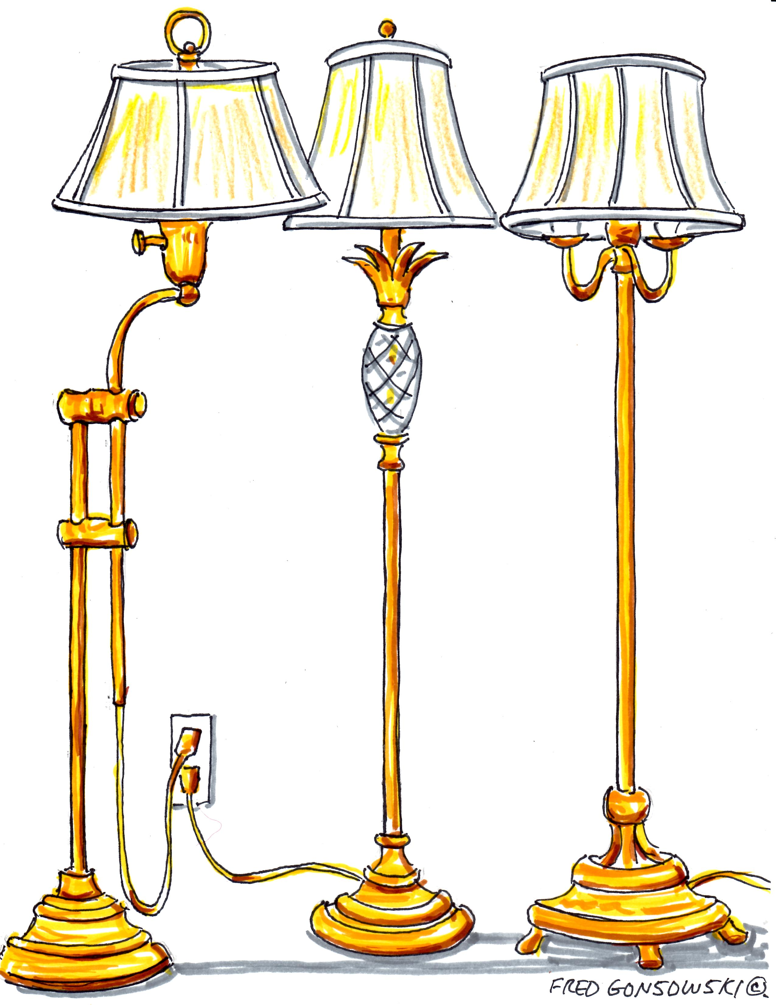 how tall should a table lamp be next to sofa leather decorating ideas the answer can you put floor