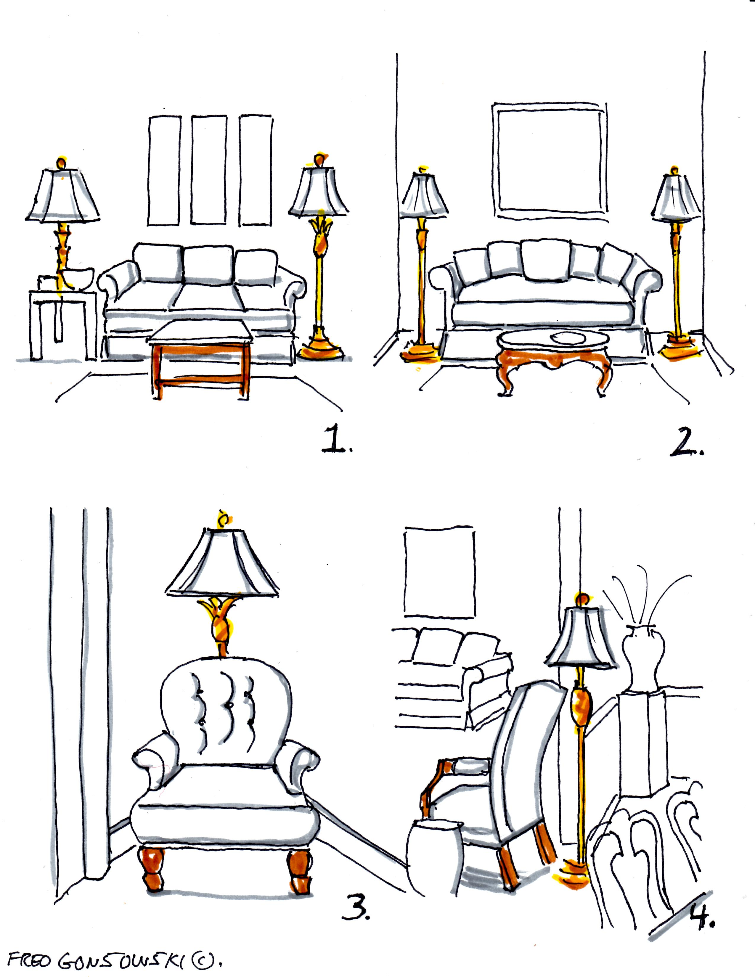 can you put a floor lamp next to a sofa