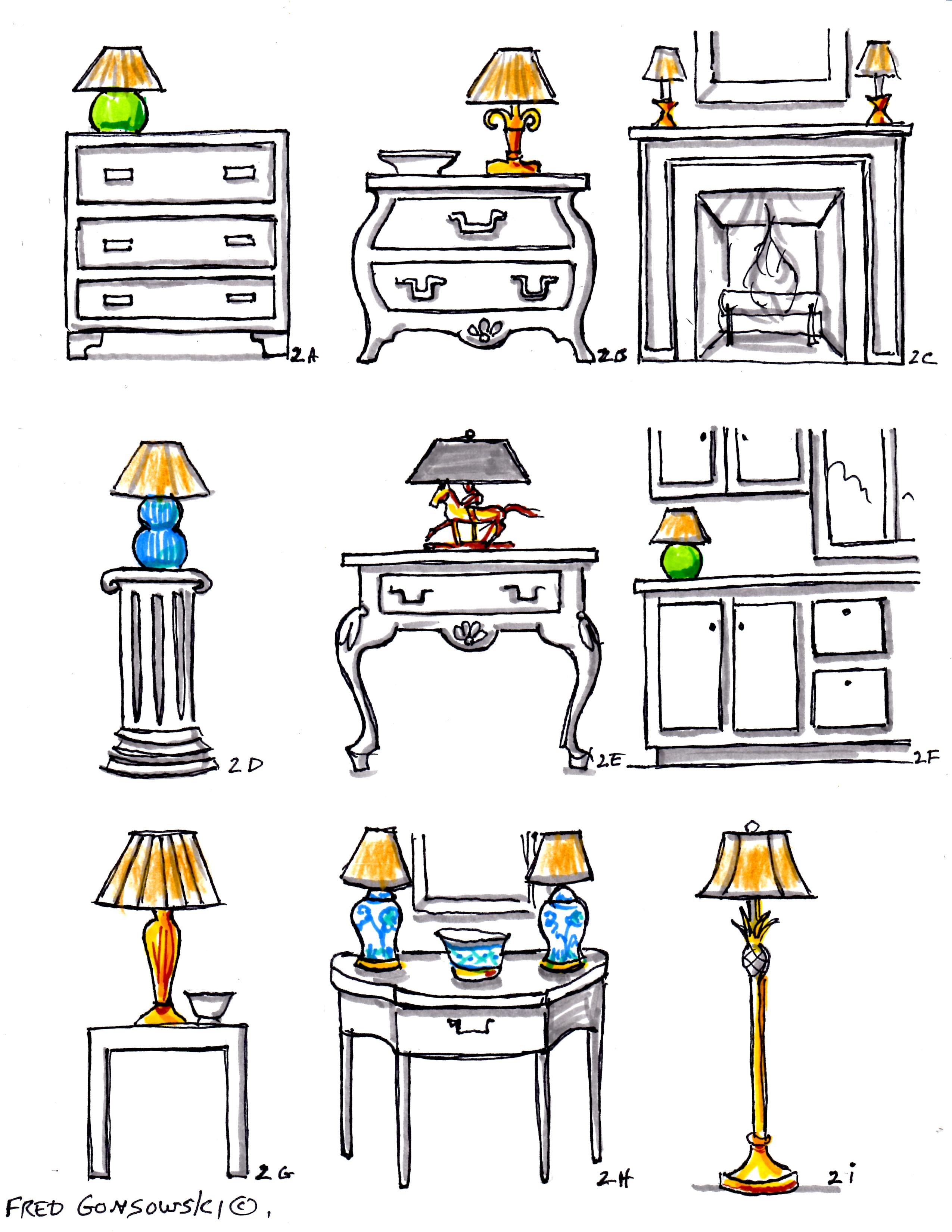 how tall should a table lamp be next to sofa ottoman king single bed interior decorating with accent lamps fred gonsowski