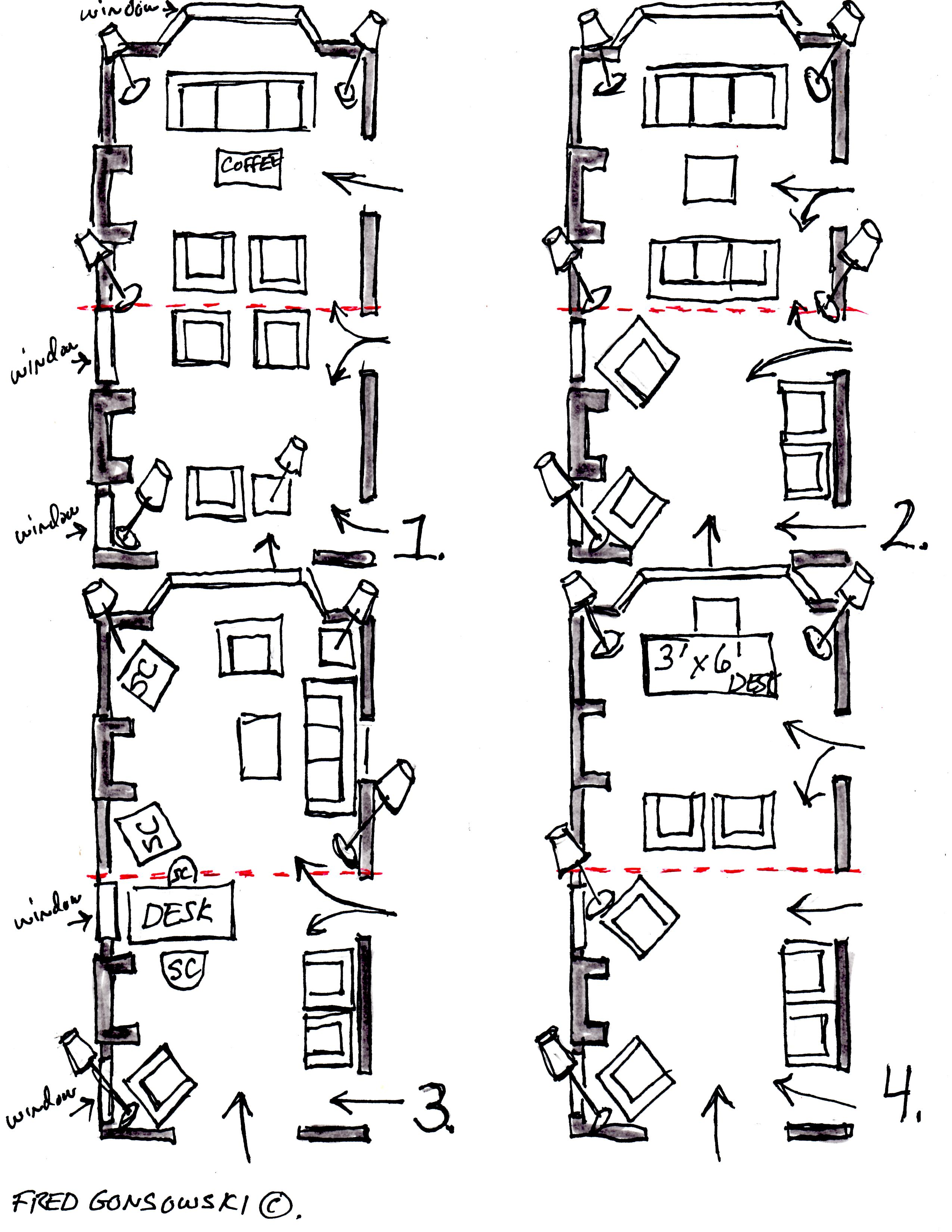 how to arrange furniture in a long narrow living room design arrangements arranging 12 foot wide by 24 now let s look at the illustrations img354
