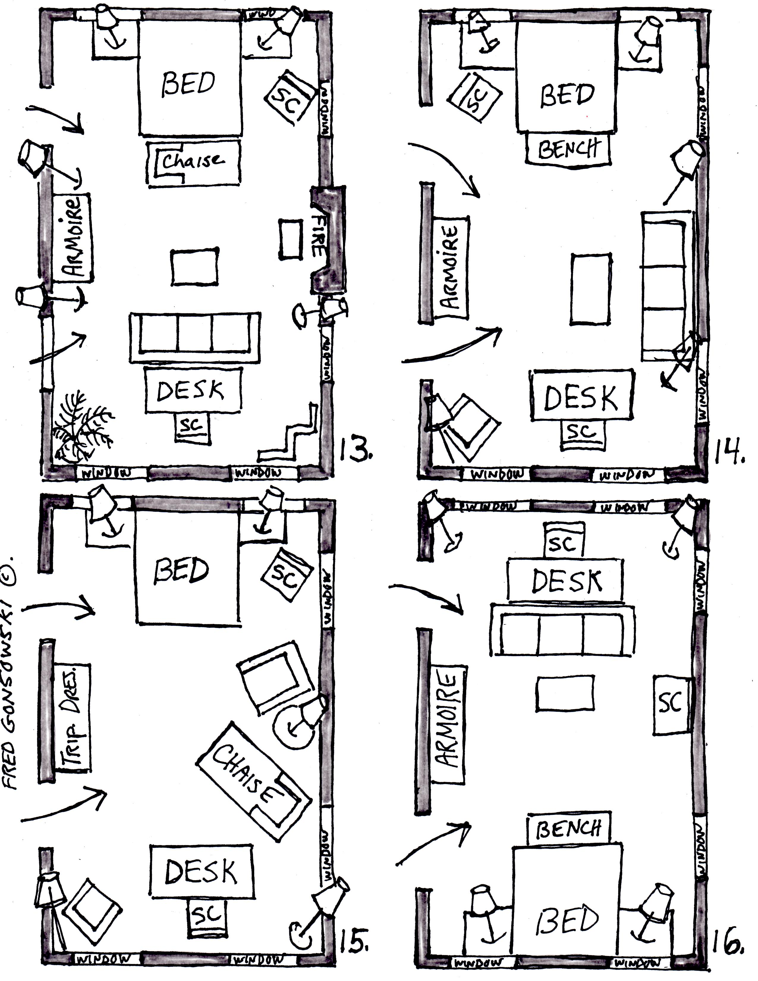 Arranging Furniture In A 15 Foot Wide By 25 Foot Long