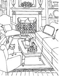 coloring room living perspective pages drawing adults rooms drawings adult colouring point interior cat books printable fredgonsowskigardenhome garden getdrawings ausmalen