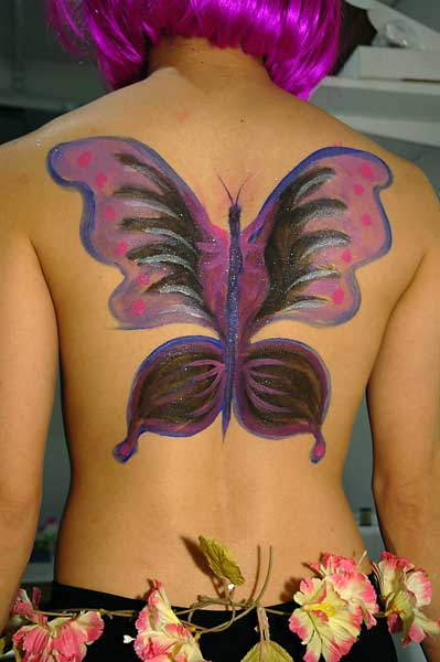 Papillon, 2005, bodypaint and photo by Fred Hatt