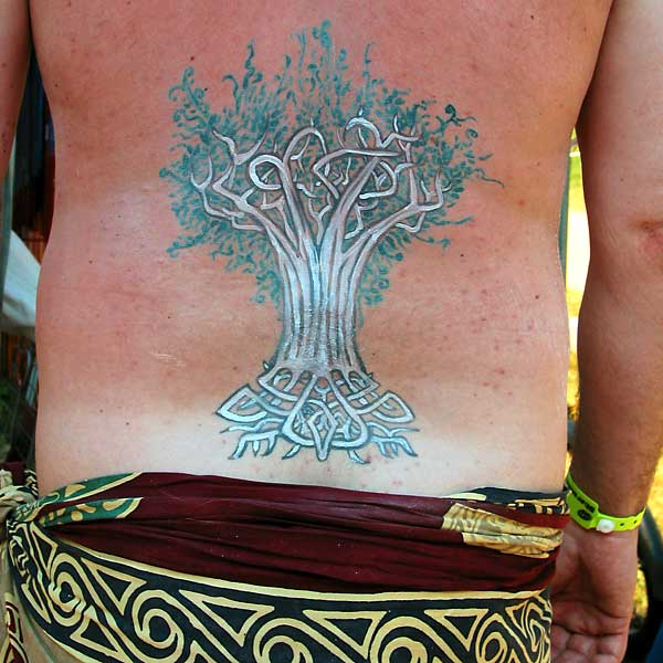 Yggdrasil, 2002, bodypaint and photo by Fred Hatt