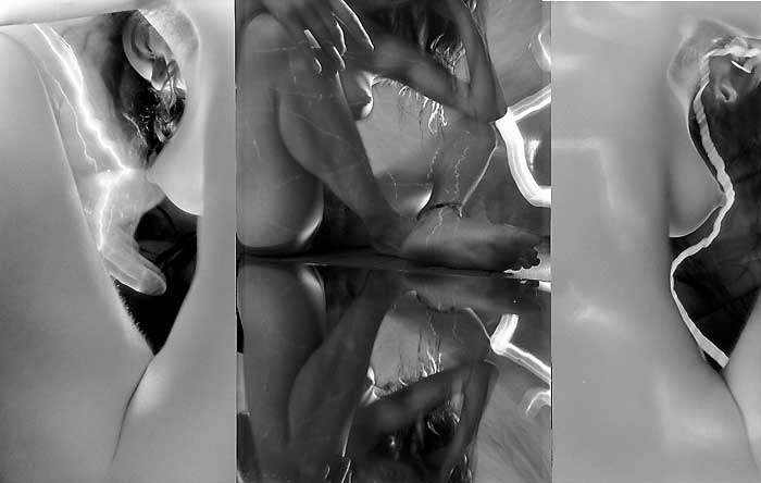 Air, 1998, photo triptych by Fred Hatt