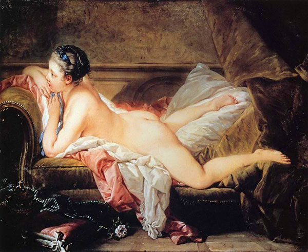"Boucher, ""Nude on a Sofa"", 1752"