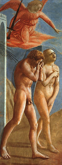 "Masaccio, ""Expulsion of Adam and Eve from the Garden of Eden"""