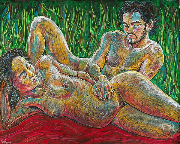 "Fred Hatt, ""Pregnant Couple"", 2008"