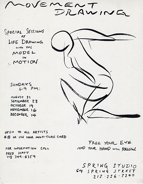 Movement Drawing Flyer, 1997, by Fred Hatt