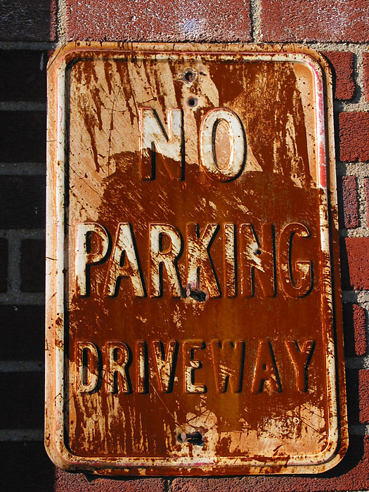 No Parking Driveway, 2003, photo by Fred Hatt