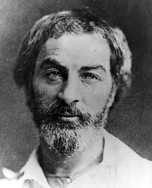 Walt Whitman, 1854, photo attributed to Gabriel Harrison