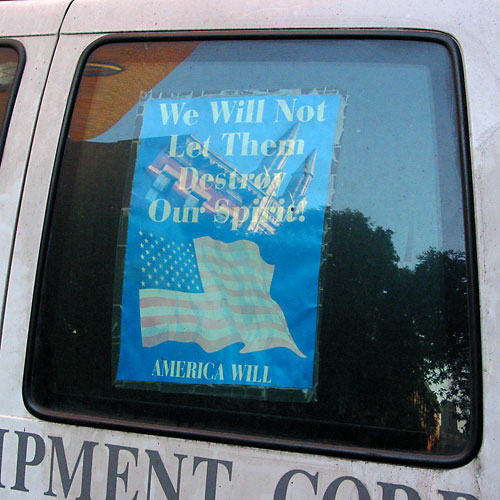 America Will, October, 2003, photo by Fred Hatt