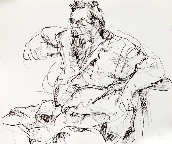 Fred Hatt, December, 2008 #2, by Karen Collidge