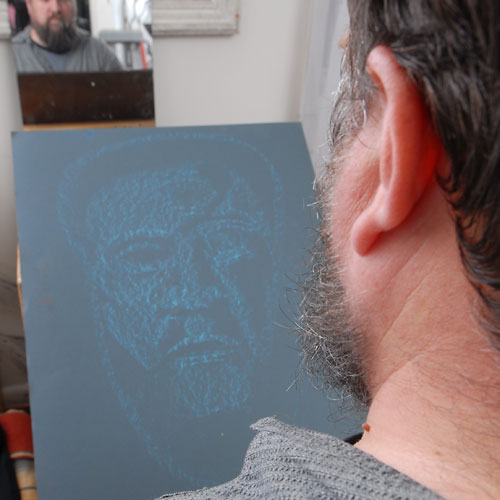 Self, 2009, by Fred Hatt, in progress at 1:30