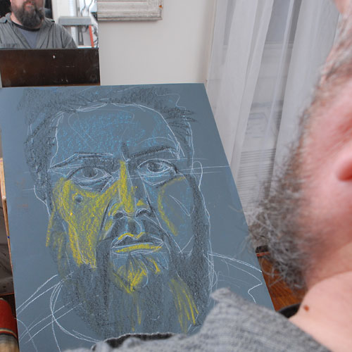 Self, 2009, by Fred Hatt, in progress at 10:00