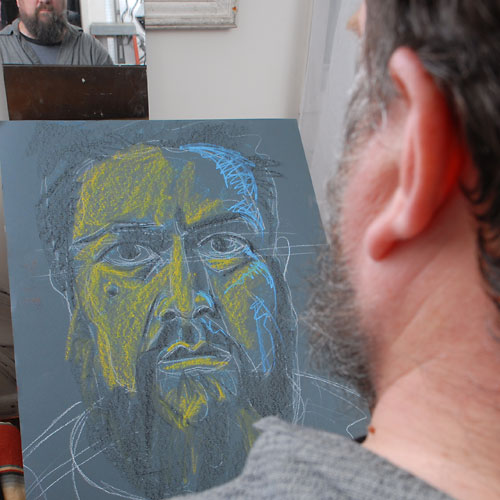 Self, 2009, by Fred Hatt, in progress at 11:30