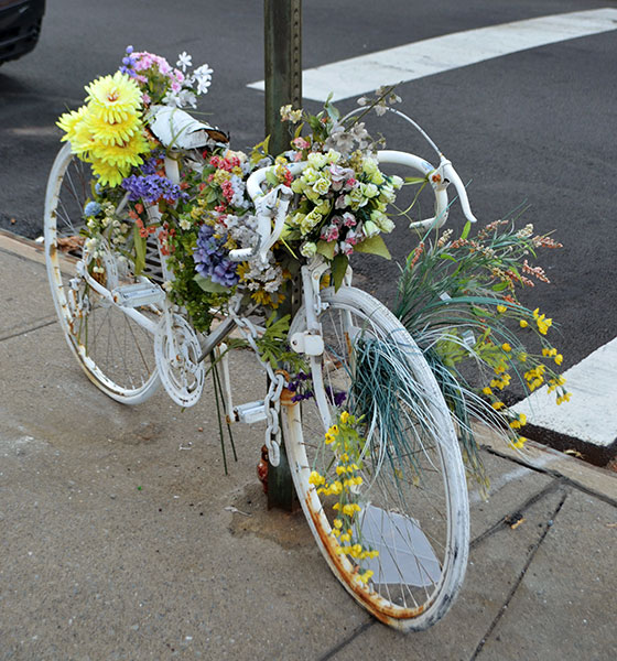 Ghost Bike, 2012, photo by Fred Hatt