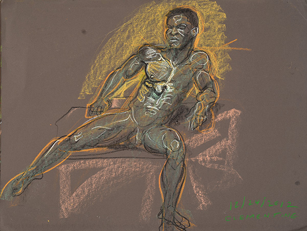 Cl Physique, sketch version, 2012, by Fred Hatt