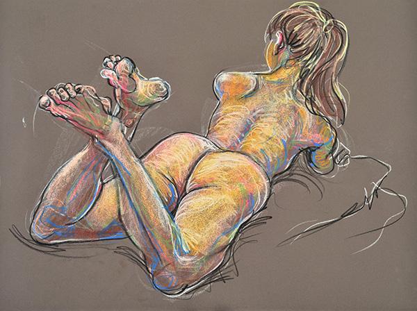 Prone, Crossed Ankles, 2013, by Fred Hatt