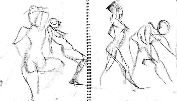 Snoo quick poses 7, 2013, by Fred Hatt