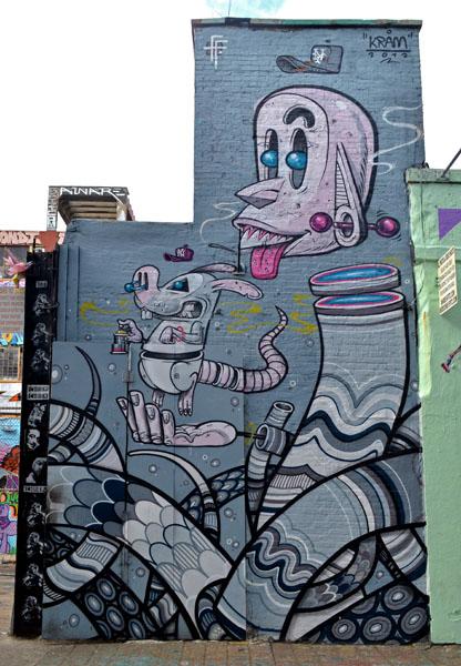 Mural by Kram, 5 Pointz, photo by Fred Hatt