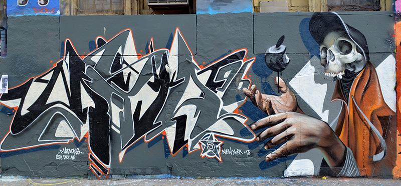 Mural by Mataone, 5 Pointz, photo by Fred Hatt