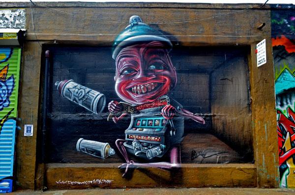 Mural by Mr Blob, 5 Pointz, photo by Fred Hatt