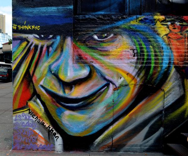 Mural by Nicholai Khan, 5 Pointz, photo by Fred Hatt