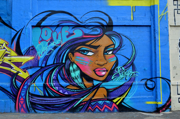Mural by TooFly, 5 Pointz, photo by Fred Hatt