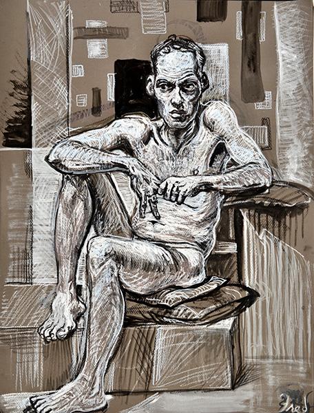 Thinking Man, 2013, by Fred Hatt