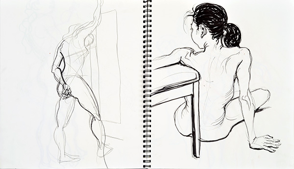 Two Back Views, 2013, by Fred Hatt