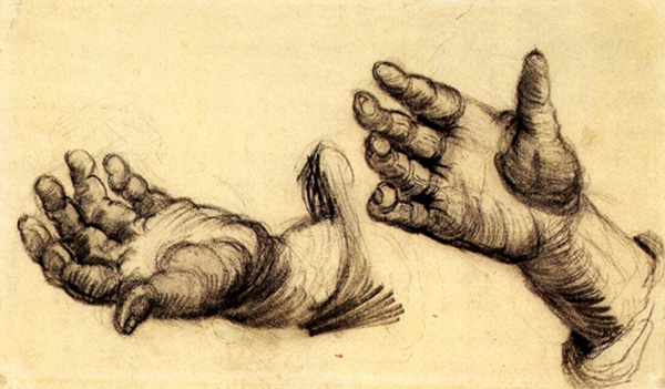Two Hands, 1885, by Vincent van Gogh