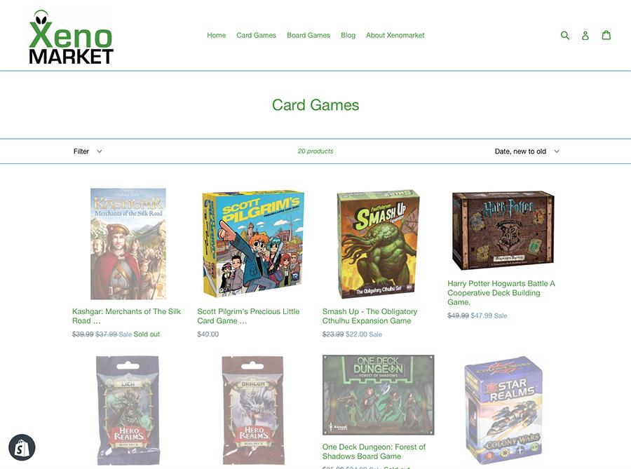 Xenomarket Card Games