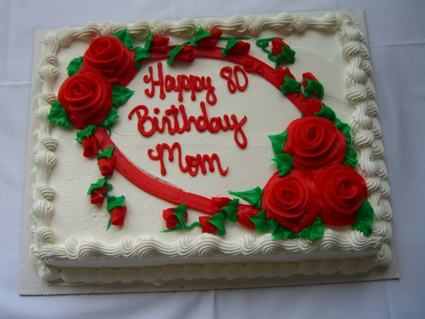 Happy 80th Birthday Mom Cake Images