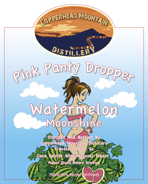 Pink Panty Dropper is the latest flavored product to showcase a half-naked woman.