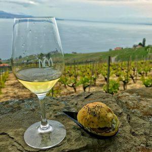 """Vin blanc """"Marsanne"""" du domaine Porta et burger par Spoon Et Caetera"""