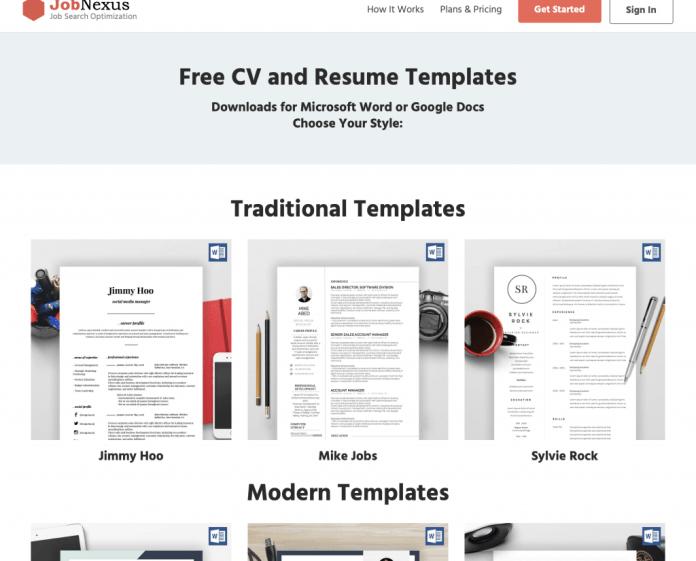 JobNexus : Templates CV gratuits