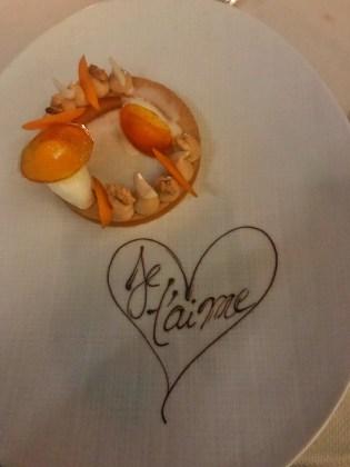 Restaurant Les Fresques - Dessert à l'abricot